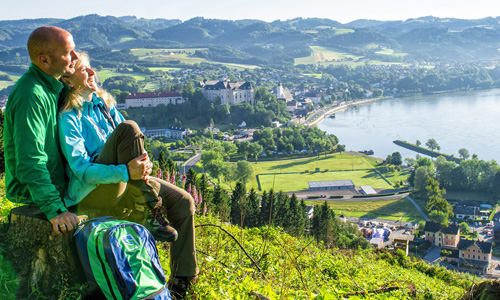 DST Blick Auf Grein Banner WGD Donau Oberösterreich Tourismus GmbH Erber