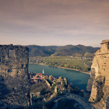 AH Wachau Bluete Duernstein,Ruine CF208423 Andreas Hofer NÖ Werbung